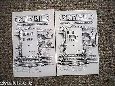 1940 & 1941  Pasadena Playhouse Association Playbill