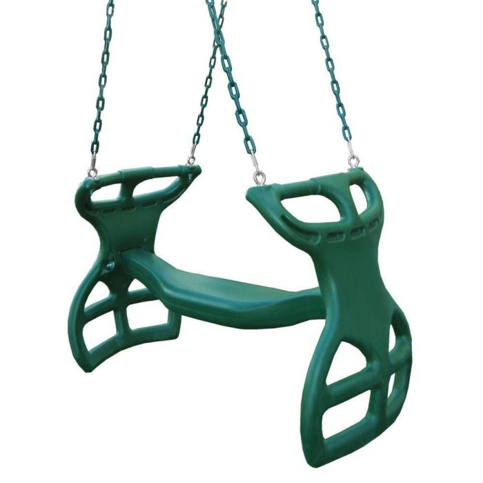 NEW Swing-N-Slide Playsets Dual-Ride Glider Swing Green