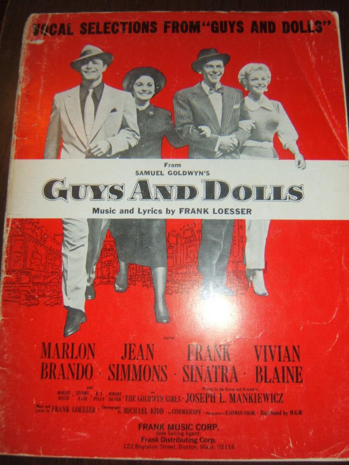 VOCAL SELECTIONS FROM GUYS AND DOLLS-SINATRA, BRANDO, SIMMONS, BLAINE