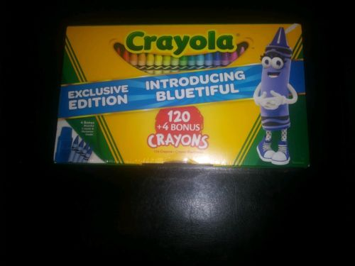 Limited Edition Crayola 120 Crayon Colors Sealed With Sharpener  4 bonus colors