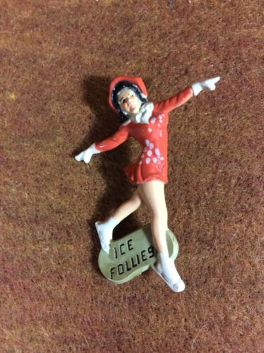 Vintage Ice Follies Souvenir Pin Lady Skating