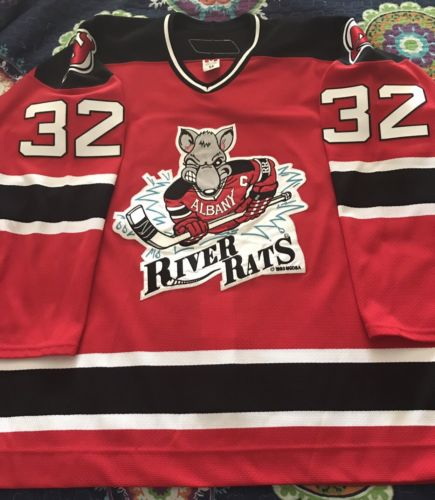 AHL 2005-06 Albany River Rats Mark Fraser Game Worn/Issued Hockey Jersey