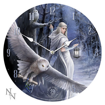 MIDNIGHT MESSENGER WALL CLOCK by ANNE STOKES 13 1/4
