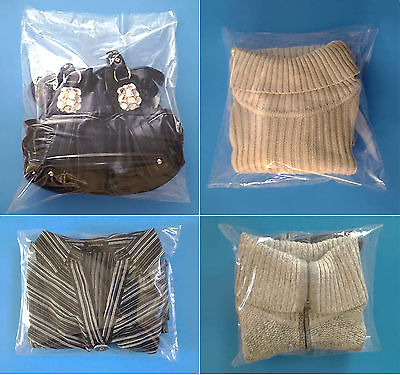 1000 Clear Poly Bags 12x14
