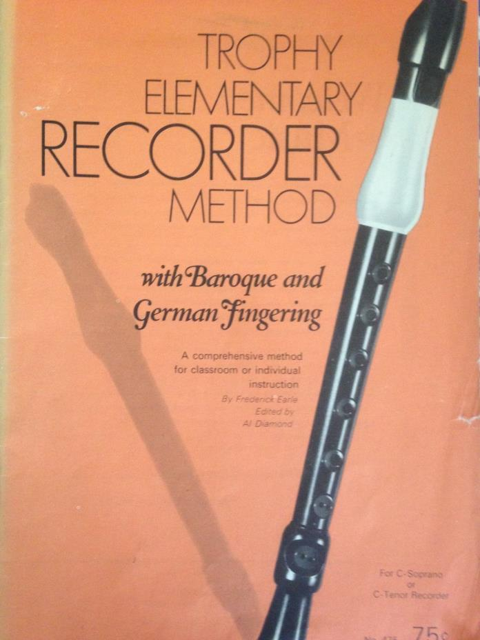 Recorder Method  Song Book TROPHY