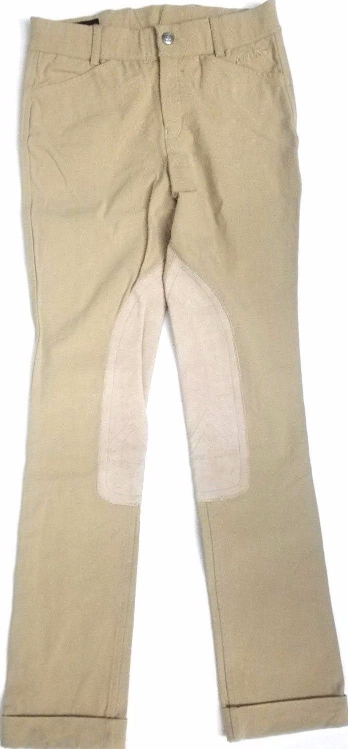 ARIAT YOUTH UNISEX EQUESTRIAN ENGLISH BREECHES SIZE 10 RIDING JEANS KHAKI COLOR