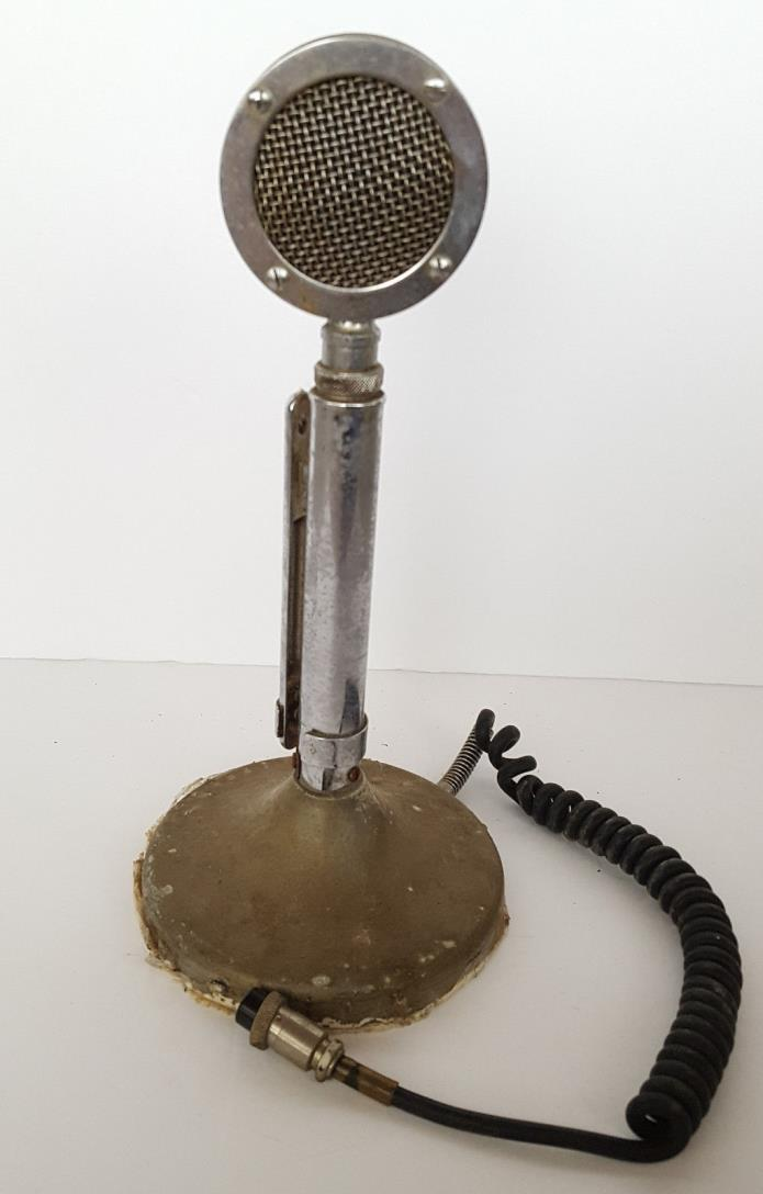 VINTAGE ASTATIC D-104 HAM RADIO CB LOLLIPOP MICROPHONE WIRED 4 PIN CONNECTION @@
