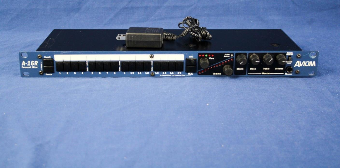 Aviom A-16R Personal Rackmount Mixer Church owned Excellent condition