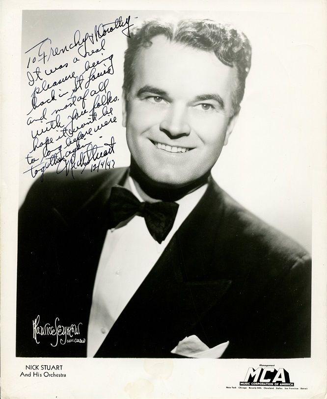 Actor & Bandleader NICK STUART Vintage Signed Photo