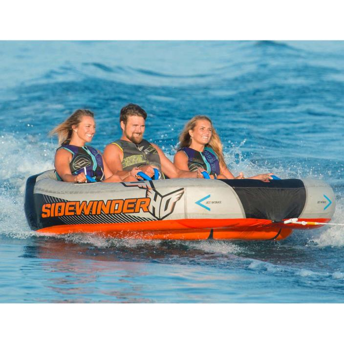 1 , 2 or 3 Person HO Sports Sidewinder Towable Water Ski Tube Boat w Rope / Pump
