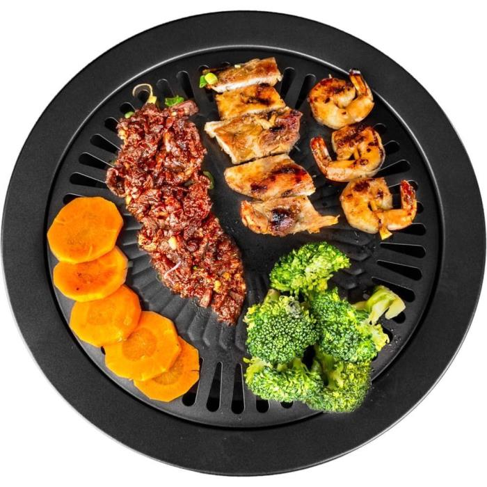 Stovetop Indoor Grill Pan Griddle Smokeless Stove Top BBQ Kitchen Barbecue Cook