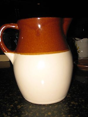 Vintage Robinson Ransbottom RRP Pottery Brown Drip Pitcher, Roseville, Ohio