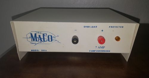 Vintage MaCo Coleco Model 2006 7 amp 5 amp Constant Regulated Power Supply