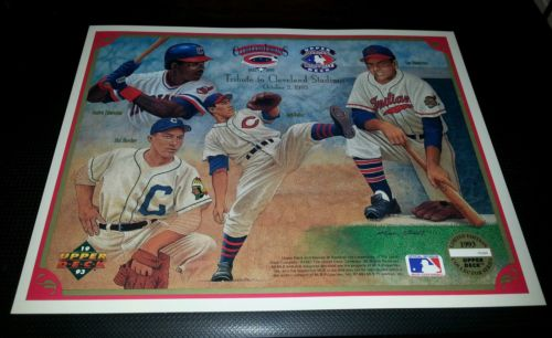 CLEVELAND INDIANS 1993 Upper Deck Heroes Of Baseball  Commemorative Sheet #'d