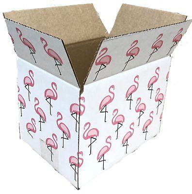 25 8x6x6 Flamingo  Designer Boxes corrugated Cardboard Box Shipping Cartons