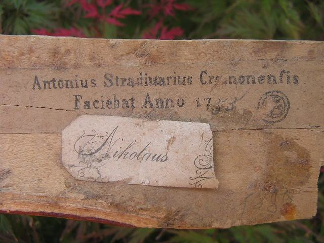 ?150 year old!!! Copy Antonius Stradiuarius Violin Label Marked 1755 ??? OLDER??