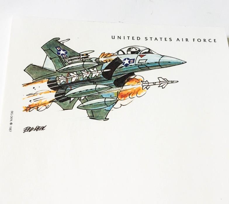 Vintage USAF Stationery set Air Force Military writing paper envelopes