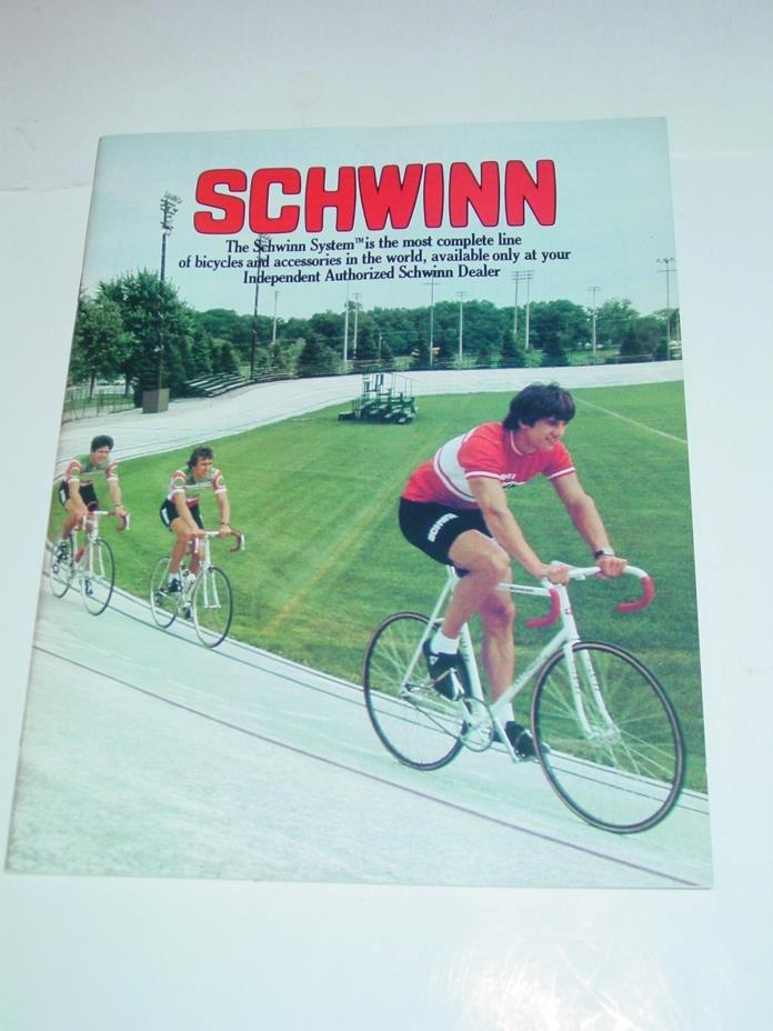 VINTAGE 1981 SCHWINN dealers catalog