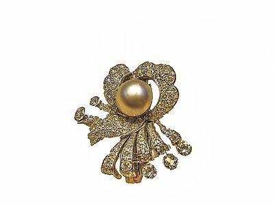 PEARL PINKISH SET ANTIQUE OLD MINER DIAMOND HAIR DIAMOND PIN DIAMOND BROOCH
