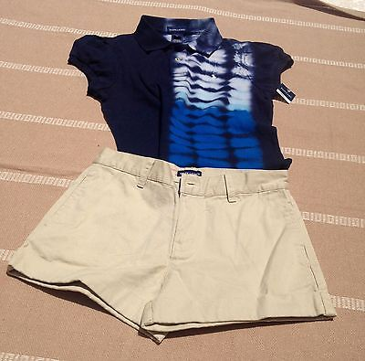 Boy's Ralph Lauren Polo shirt and shorts lot New Size 14. 2 pieces