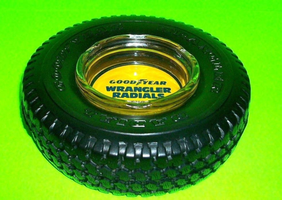Goodyear WRANGLER Radial PROMO Tire Ash Tray Yellow Rubber Tire Light Trucks RVs
