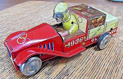 1936 BERLIN GERMAN MADE OLYMPIADE olympic toy CAR DEUTSCHES REICHS #1002 TIN W/U