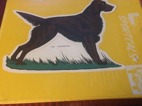 Vtg Dyer SPORTCALS DieCut Vinyl Waterproof Irish Setter Decal Sticker