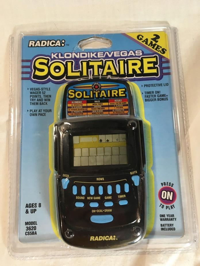 radica solitaire handheld game instructions