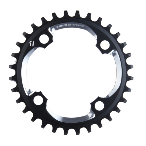 Sram, 32D, 11sp, BCD: 94mm, 4 Bolts, X01 X-Sync, Middle Chainring, For X01, Alum