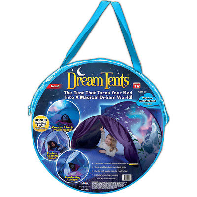 DreamTents DTWW-CD12 Winter Wonderland Twin Size Pop Up Tent, As Seen On TV