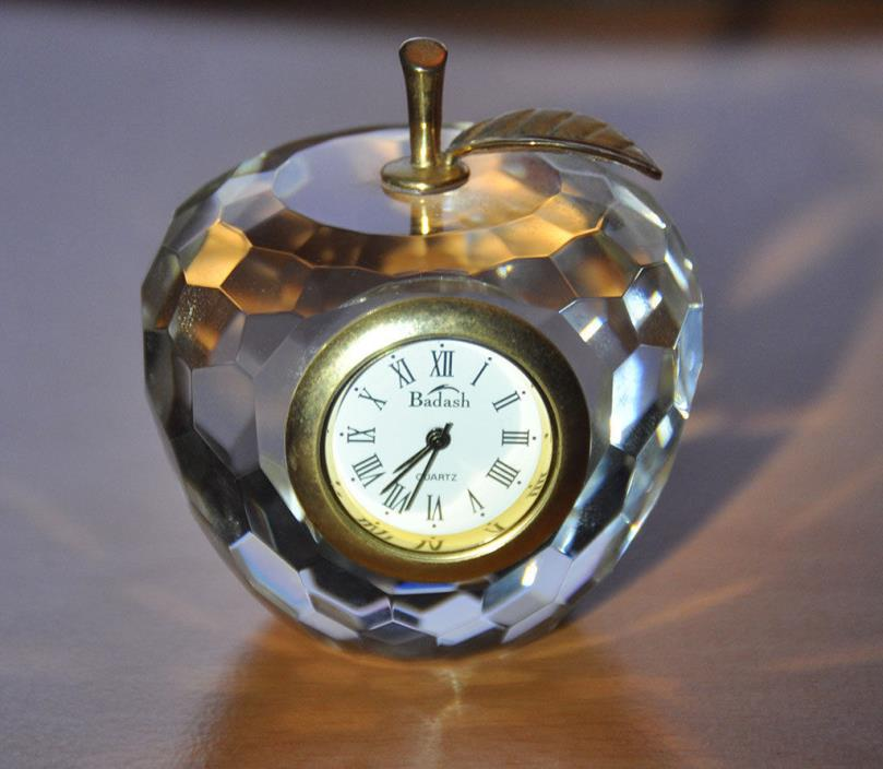 Badash Apple Crystal Clock