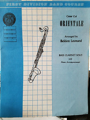 Orientale ...bass clarinet solo w piano accomp