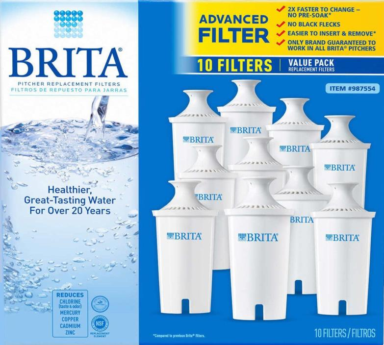 10-PACK BRITA PITCHER REPLACEMENT FILTERS!  SEALED!  NEW!   **SO CHEAP!**