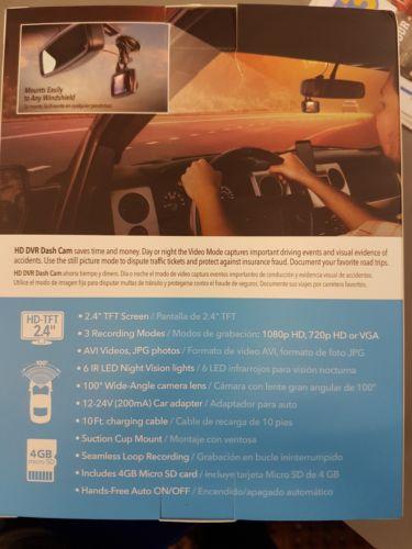Scosche HD DVR Car Dashcam DDVR25T
