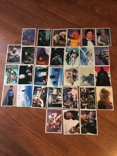Star Wars Empire Strikes Back Topps Giant Photocards Set 1 & 2 30 cards 1980