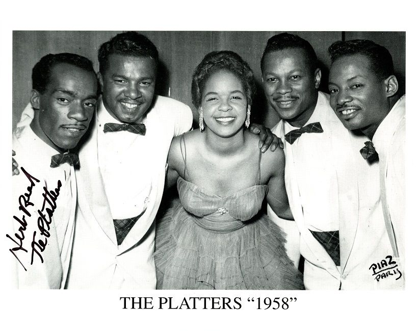 HERB REED Signed Photo - The Platters