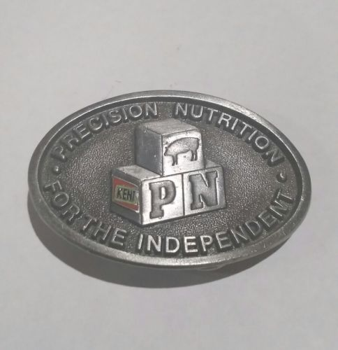 Vintage  Pewter Belt Buckle Limited Kent Feeds Precision Nutrition Pig Farmer 3