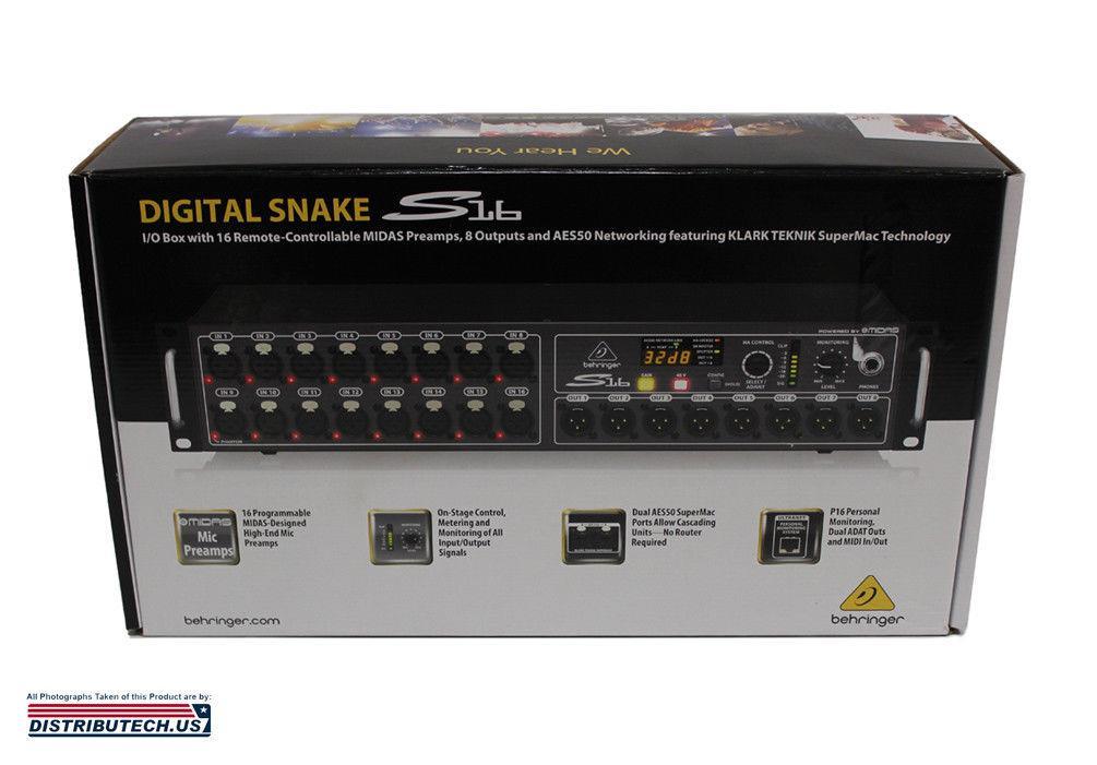 Behringer S16 Digital Audio Snake Midas Preamps I/O Box BRAND NEW