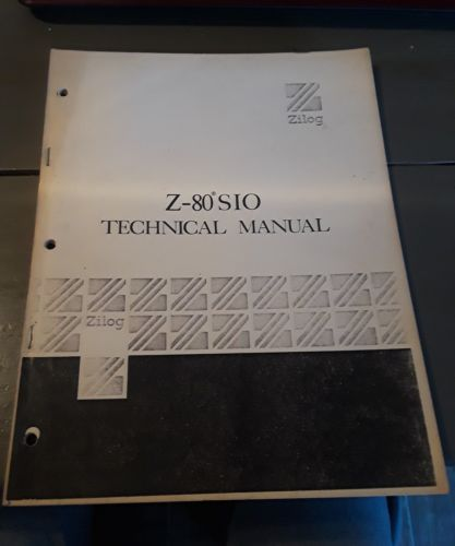 ZILOG Z-80 SIO TECHNICAL MANUAL 03-3033-01