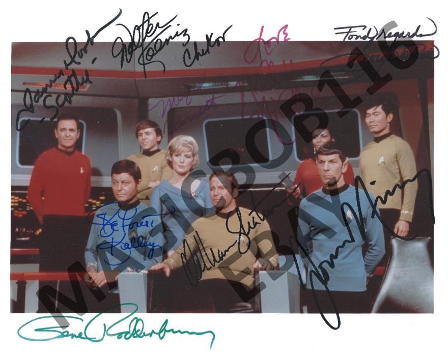 Star Trek Entire Cast + Gene Roddenberry Autographed8x10 RPPhoto