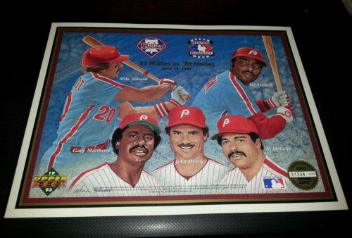 PHILADELPHIA PHILLIES 1993 Upper Deck Heroes Of Baseball Commemorative Sheet #'d