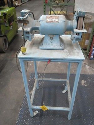 Used 3/4 HP 3450 RPM Bench Grinder With Stand Dayton 1Z707