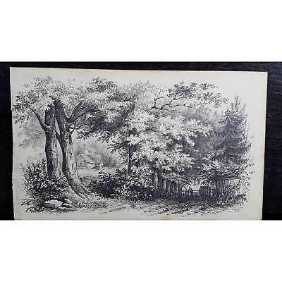 Antique Original British Pencil Drawing, circa 1823, #7 of 8 -