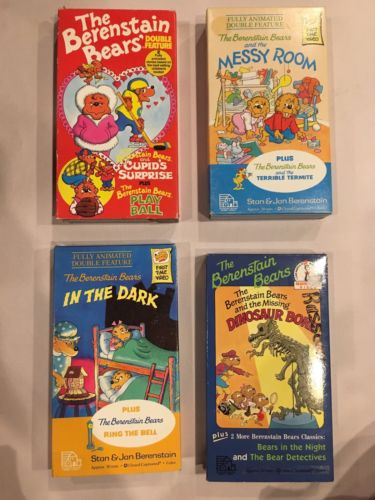 Berenstein Bears VHS Video Tape Lot Of 4 Classics