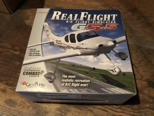 Great Plains Real Flight G5.5 Interlink Controller & Software R/C Flight Sim