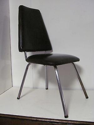 Mid Century Modern Chrome Splay Leg Dining Chair