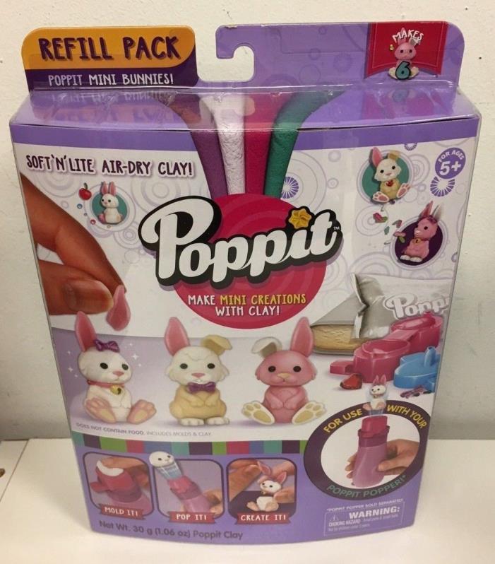 Poppit Season 1 Refill Pack - Bunny Rabbit Lot of 3 New ships free