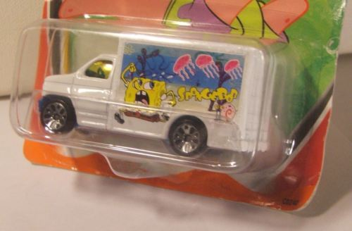 Matchbox Spongebob Squarepants 1998 GM Box Truck New In Package Unopened
