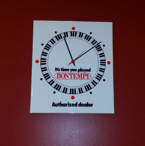 Vintage BONTEMPI ACCORDIAN ORGAN KEYBOARD AUTHORIZED DEALER WALL CLOCK NEW NOS