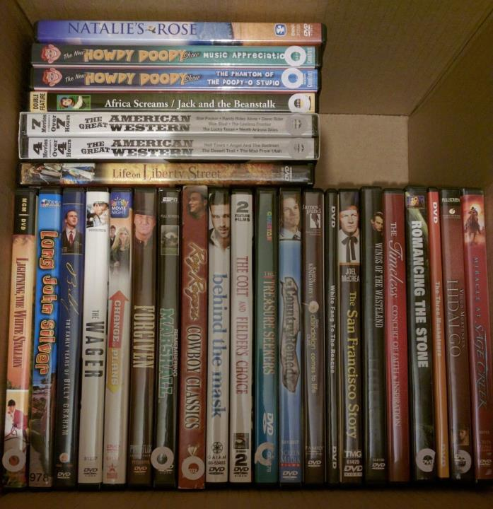 HUGE 50 DVD Movie Lot Western Family Action Comedy Drama Action Adventure